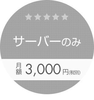 サーバーのみ 月額3,000円(税別)